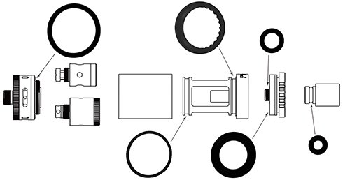 Набор о-рингов для Kanger TopTank Mini