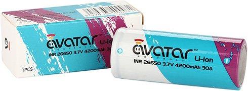 Упаковка аккумулятора Avatar 26650 4200 mAh