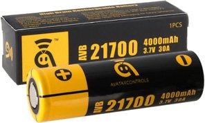 Аккумулятор Avatar AVB 21700 ёмкостью 4000 mAh и его упаковка