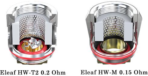 Испарители Eleaf HW-M и Eleaf HW-T2