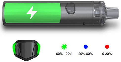 Eleaf iJust AIO уровень заряда батареи