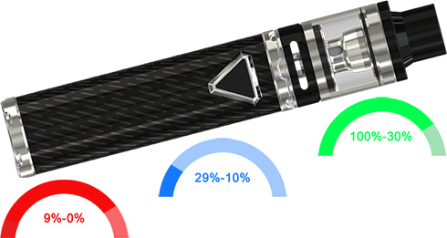 Индикация заряда аккумулятора Eleaf iJust ECM