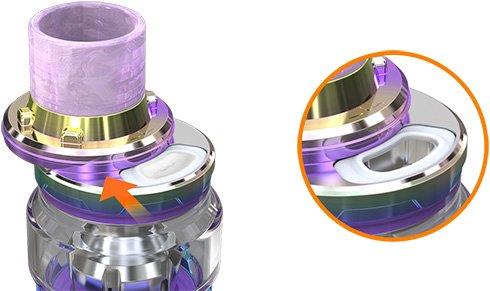 Удобная верхняя заправка атомайзера ELLO Duro