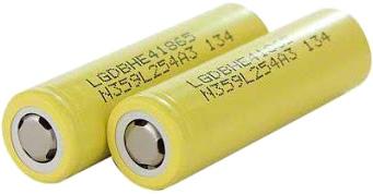 Аккумуляторы LG ICR HE4 2500 mAh